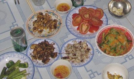 Mực cóc chế biến thành nhiều món ăn ngon