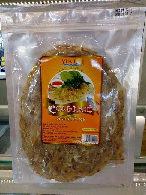 Cá bò khô Lý Sơn